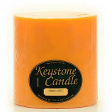 6 x 6 Orange Twist Pillar Candles