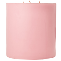 6 x 6 Pink Hibiscus Pillar Candles