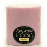 6 x 6 Pink Hibiscus Pillar Candles