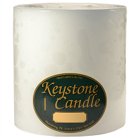 6 x 6 Unscented White Pillar Candles