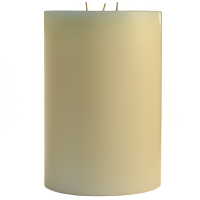 6 x 9 French Butter Cream Pillar Candles