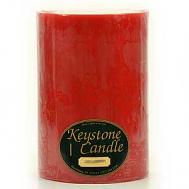 6 x 9 Mistletoe and Holly Pillar Candles