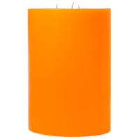 6 x 9 Orange Twist Pillar Candles