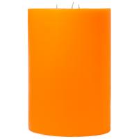 6 x 9 Orange Twist Pillar Candles