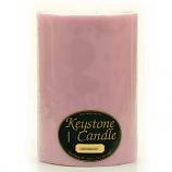 6 x 9 Pink Hibiscus Pillar Candles