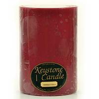 6 x 9 Raspberry Cream Pillar Candles