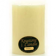 6 x 9 Unscented Ivory Pillar Candles