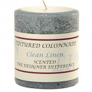 Rustic Clean Linen 3 x 3 Pillar Candles