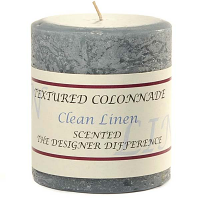 Rustic Clean Cotton 3 x 3 Pillar Candles