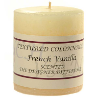 Rustic French Vanilla 3 x 3 Pillar Candles