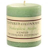 Rustic Honeydew Melon 3 x 3 Pillar Candles