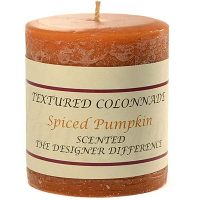 Rustic Spiced Pumpkin 3 x 3 Pillar Candles