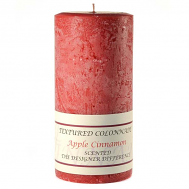 Textured Apple Cinnamon 3 x 6 Pillar Candles