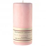 Textured Black Raspberry Vanilla 3 x 6 Pillar Candles