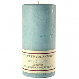 Textured Blue Lagoon 3 x 6 Pillar Candles