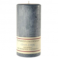 Textured Clean Linen 3 x 6 Pillar Candles