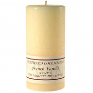 Textured French Vanilla 3 x 6 Pillar Candles