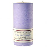 Textured Lavender Vanilla 3 x 6 Pillar Candles