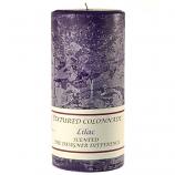 Textured Lilac 3 x 6 Pillar Candles