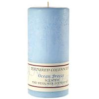 Textured Ocean Breeze 3 x 6 Pillar Candles