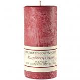 Textured Raspberry Cream 3 x 6 Pillar Candles