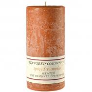 Textured Spiced Pumpkin 3 x 6 Pillar Candles