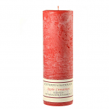 Textured Apple Cinnamon 3 x 9 Pillar Candles