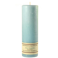 Textured Blue Lagoon 3 x 9 Pillar Candles
