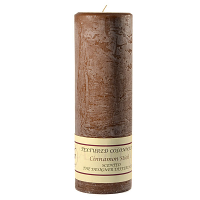 Textured Cinnamon Stick 3 x 9 Pillar Candles