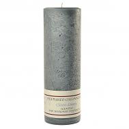 Textured Clean Linen 3 x 9 Pillar Candles
