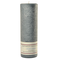Textured Clean Linen 3 x 9 Pillar Candles