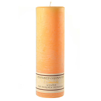 Textured Creamsicle 3 x 9 Pillar Candles