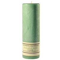 Textured Honeydew Melon 3 x 9 Pillar Candles