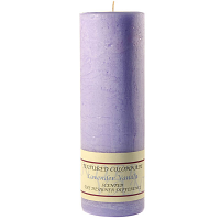 Textured Lavender Vanilla 3 x 9 Pillar Candles