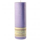 Textured Lavender Vanilla 3 x 9 Pillar Candles