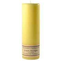 Textured Lemon Meringue 3 x 9 Pillar Candles
