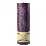 Textured Lilac 3 x 9 Pillar Candles