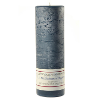 Textured Midsummer Night 3 x 9 Pillar Candles