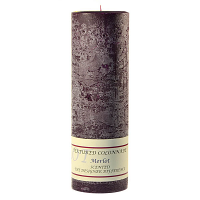 Textured Merlot 3 x 9 Pillar Candles