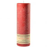 Textured Mistletoe and Holly 3 x 9 Pillar Candles