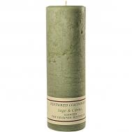 Textured Sage and Citrus 3 x 9 Pillar Candles