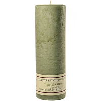 Textured Sage and Citrus 3 x 9 Pillar Candles