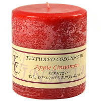 Textured Apple Cinnamon 4 x 4 Pillar Candles