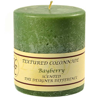 Textured Bayberry 4 x 4 Pillar Candles
