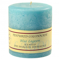 Textured Blue Lagoon 4 x 4 Pillar Candles
