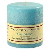 Textured Blue Lagoon 4 x 4 Pillar Candles