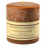 Textured Cinnamon Stick 4 x 4 Pillar Candles