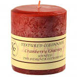 Textured Cranberry Chutney 4 x 4 Pillar Candles