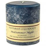 Textured Merlot 4 x 4 Pillar Candles