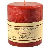 Textured Mulberry 4 x 4 Pillar Candles